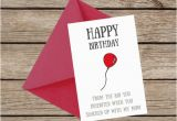 Funny Birthday Cards for Stepdad Birthday Card Stepdad Stepfather Funny Humour