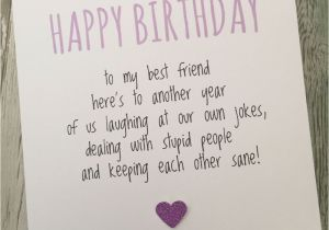 Funny Birthday Cards For Your Best Friend Card Bestie Humour Fun