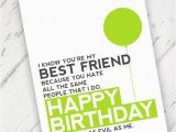 Funny Birthday Cards for Your Best Friend Lime Green Funny Best Friend Birthday Card Qty 1