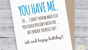 Funny Birthday Cards for Your Boyfriend Birthday Card Boyfriend Card Funny Birthday Card I Love