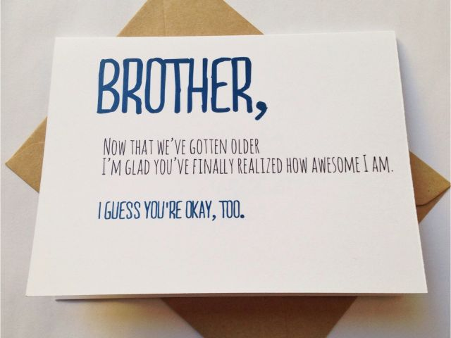 Download By SizeHandphone Tablet Desktop Original Size Back To Funny Birthday Cards For Your Brother