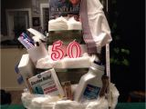 Funny Birthday Gifts for Him Diy Quot Depends Quot Diaper Cake for My Dads 50th Birthday Diy