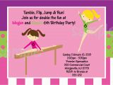 Funny Birthday Invitation Wording for Kids Birthday Invites Funny Kids Gymnastics Party Invitations