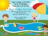 Funny Birthday Invitation Wording for Kids Pool Party Birthday Party Invitation Printable Digital File