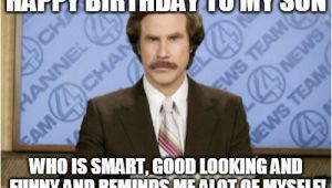 Funny Birthday Meme for son Ron Burgundy Meme Imgflip