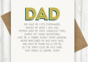 Funny Cards For Dads Birthday Dad Card