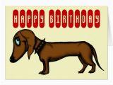 Funny Dachshund Birthday Cards Funny Dachshund Birthday Card Zazzle Com