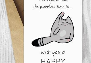 Funny Digital Birthday Cards Printable Cat