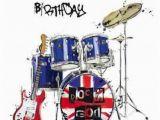 Funny Drummer Birthday Cards Drums Birthday Card