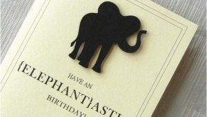 Funny Elephant Birthday Card Design Context Animal Greeting Cards