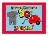 Funny Elephant Birthday Card Funny Elephant 50th Birthday Card Zazzle