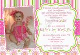 Funny First Birthday Invitation Wording 1st Birthday Girl themes 1st Birthday Invitation Photo