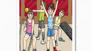 Funny Fitness Birthday Cards Cross Training Birthday Card Fitness Birthday Card Exercise