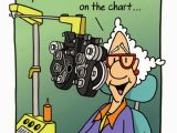 Funny Getting Old Birthday Cards Woman at Eye Doctor Funny Birthday Card by Oatmeal Studios