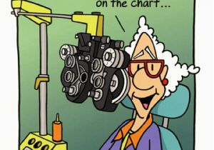 Funny Getting Old Birthday Cards Woman At Eye Doctor Card By Oatmeal Studios