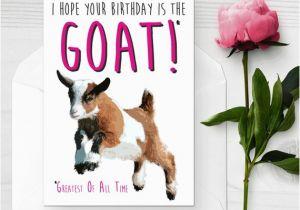 Funny Goat Birthday Cards Baby Goat Birthday Card Funny Birthday Card I Love Goats