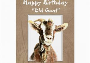 Funny Goat Birthday Cards Funny Birthday Over the Hill Old Goat Humor Card Zazzle Com
