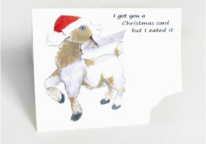 Funny Goat Birthday Cards Funny Christmas Card Goat Greeting Card Cute Notecard