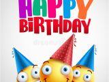 Funny Happy Birthday Banners Happy Birthday Smileys Celebrant with Happy Friends Funny
