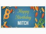 Funny Happy Birthday Banners Mardi Gras Birthday Banner Personalized Party Backdrop