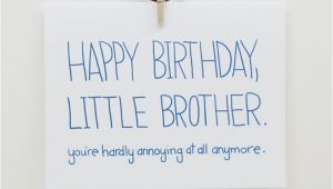 Funny Happy Birthday Little Brother Quotes Cute Little Brother Quotes Quotesgram