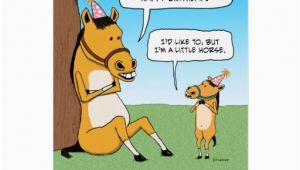 Funny Horse Birthday Cards Funny Little Horse Birthday Card Zazzle