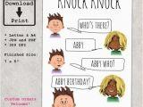 Funny Kid Birthday Cards Knock Knock Joke Printable Greeting Card for Kids