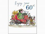Funny Male 60th Birthday Cards Male Birthday Card Enjoy Your 60th Quentin Blake Same
