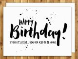 Funny Mens Birthday Cards Printable Funny Birthday Card Birthday Card for Him Birthday Card