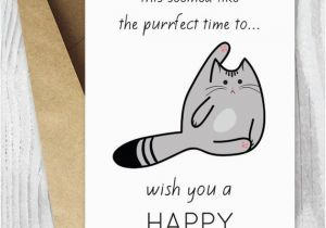 Funny Mens Birthday Cards Printable Cat