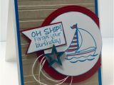 Funny Nautical Birthday Cards Belated Birthday Card Nautical Birthday Card Burthday Card
