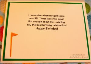 Funny Notes for Birthday Cards Birthday Card for A Golfer