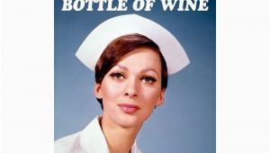 Funny Nurse Birthday Cards This Birthday I Prescribe A whole Bottle Of Wine Greeting