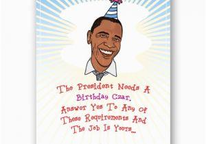 Funny Political Birthday Cards Barack Obama Card