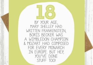 Funny Sayings For 18th Birthday Cards By Your Age Card Paper Plane