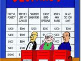 Funny Senior Birthday Cards Senior Jeopardy Funny Birthday Card Greeting Card by
