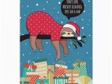 Funny Sloth Birthday Card Funny Christmas Card the Sloth Santa Zazzle