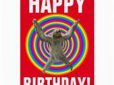 Funny Sloth Birthday Card Magical Rainbow Sloth Birthday Greeting Card Zazzle