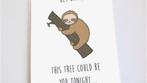 Funny Sloth Birthday Card Sloth Card Funny Valentines Day Anniversary Birthday