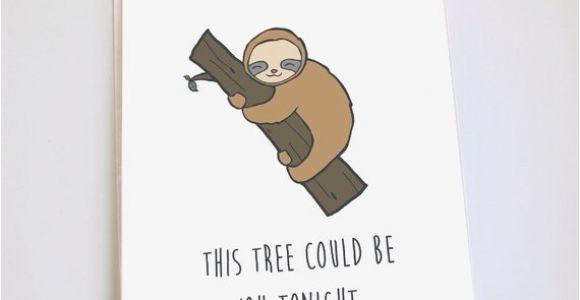 Funny Sloth Birthday Card Sloth Card Funny Valentines Day Anniversary Birthday