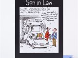 Funny son In Law Birthday Cards Birthday Card son In Law Car Sketch Only 89p