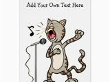 Funny Talking Birthday Cards Personalized Funny Singing Cat Greeting Cards Zazzle Com