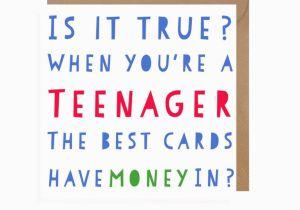 Funny Teenage Birthday Cards Funny Teenager Birthday Card Teenager Card Tweens Birthday