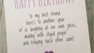 Funny Things to Write In Birthday Cards for Friends Funny Best Friend Birthday Card Bestie Humour Fun