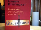 Game Of Thrones Happy Birthday Card Funny Game Of Thrones Birthday Card Happy Birthday by