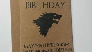Game Of Thrones Happy Birthday Card Game Of Thrones Birthday Card House Stark