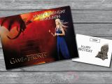 Game Of Thrones Happy Birthday Card Personalised Game Of Thrones Birthday Card A5 Large Your