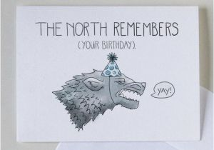 Game Of Thrones Happy Birthday Card The North Remembers Your 4 X 6 Greeting
