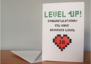 Gamer Birthday Cards Level Up Card Gaming By