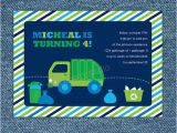 Garbage Truck Birthday Invitations 17 Best Images About Ethan 39 S Garbage Truck Party Ideas On